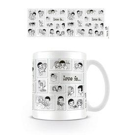 Love is ... Stamp Collage - Mug