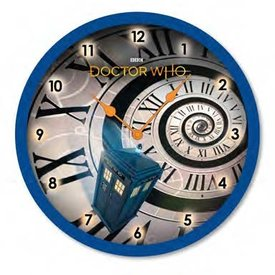 """Doctor Who Time Spiral -10"""" Wall Clock"""