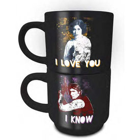 Star Wars Han & Leia - Stack Mug Set