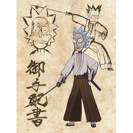 Rick And Morty Samurai Showdown - Canvas 60x80cm