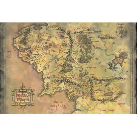 The Lord Of The Rings Middle Earth Map - Maxi Poster