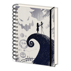 Nightmare Before Christmas Spiral Hill- A5 Notebook