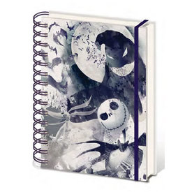 Nightmare Before Christmas Water Colour- A5 Notebook