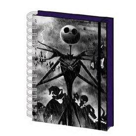 Nightmare Before Christmas Seriously Spooky- A5 3D Notebook
