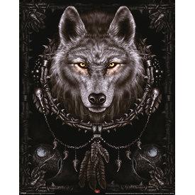 Spiral Wolf - Mini Poster