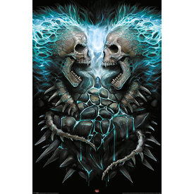 Spiral Flaming Spine - Maxi Poster