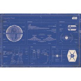 Star Wars Imperial Fleet Blue Print - Maxi Poster