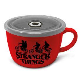 Stranger Things Logo - Soep & Snack Mok