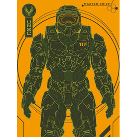 Halo Infinite Master Chief Tech - Canvas 30x40cm