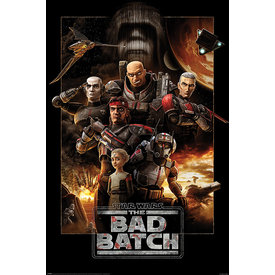 Star Wars The Bad Batch Montage - Maxi Poster