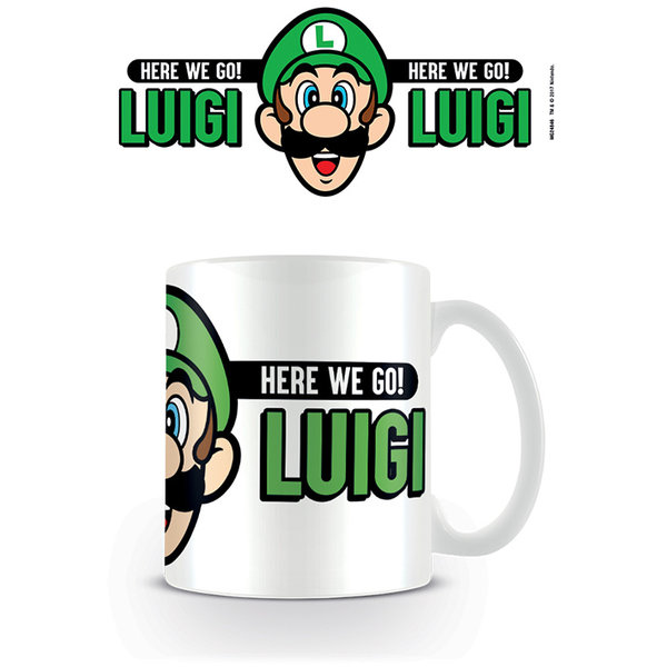 Nintendo Super Mario Here We Go  Luigi - Mug