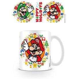 Nintendo Super Mario Bros Happy Holidays - Mok