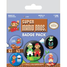 Super Mario Bros. Retro - Badge Pack