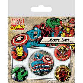 Marvel Comics Captain America - Badge Pack