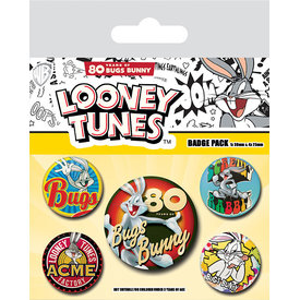 Looney Tunes Bugs Bunny 80th Anniversary - Badge Pack