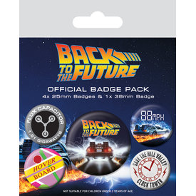 Back To The Future Delorean - Badge Pack