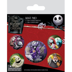Nightmare Before Christmas Characters - Badge Pack