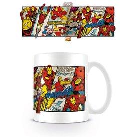 Marvel Retro Iron Man Panels - Mug