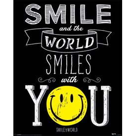 Smiley World Smiles With You - Mini Poster