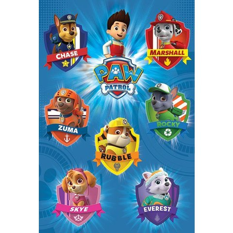 Paw Patrol Crests - Maxi Poster