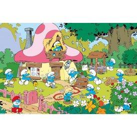 Smurfen Tuin -Maxi Poster