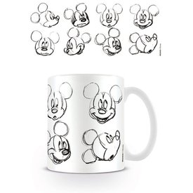 Mickey Mouse Sketch Faces - Mug