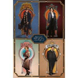 Fantastic Beasts Framed Cast - Maxi Poster