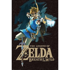 Zelda Breath of the Wild Game Cover - Maxi Poster