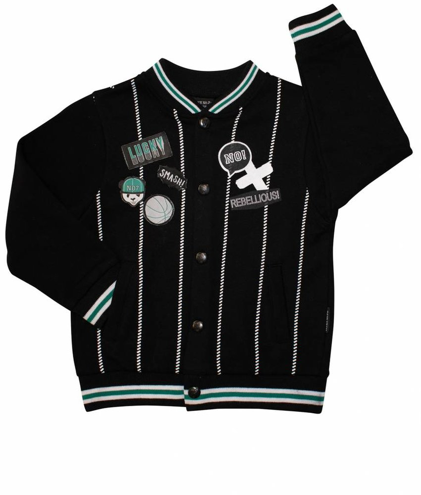 Lucky No.7 panda baseball jacket