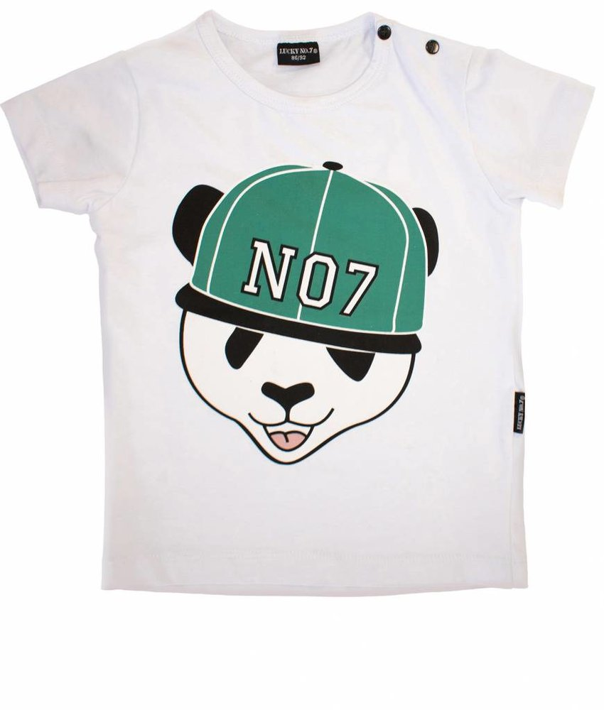 Lucky No.7 t-shirt panda boys