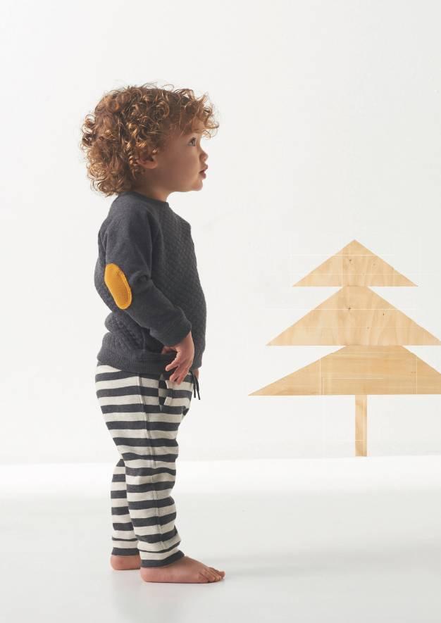 little label sweatbroekje stripe - ukki & ikku kidswear