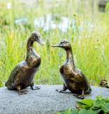 Entenpaar Anton und Emilia aus Bronze