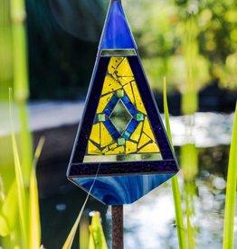 handgefertigter Lichtfänger aus Glas, Pyramide