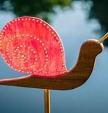 handgefertige Lichtfänger-Schnecke aus Glabrillianten