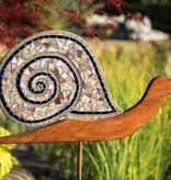 große handgefertige Lichtfänger-Schnecke aus Mosaikglas