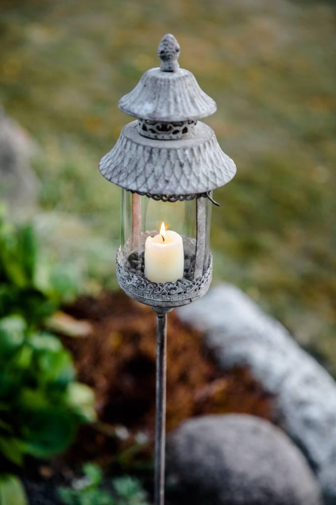 Stablampe antik für kleine Kerze