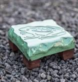 Motiv Pflasterstein Frosch in mint, absolut frostfest