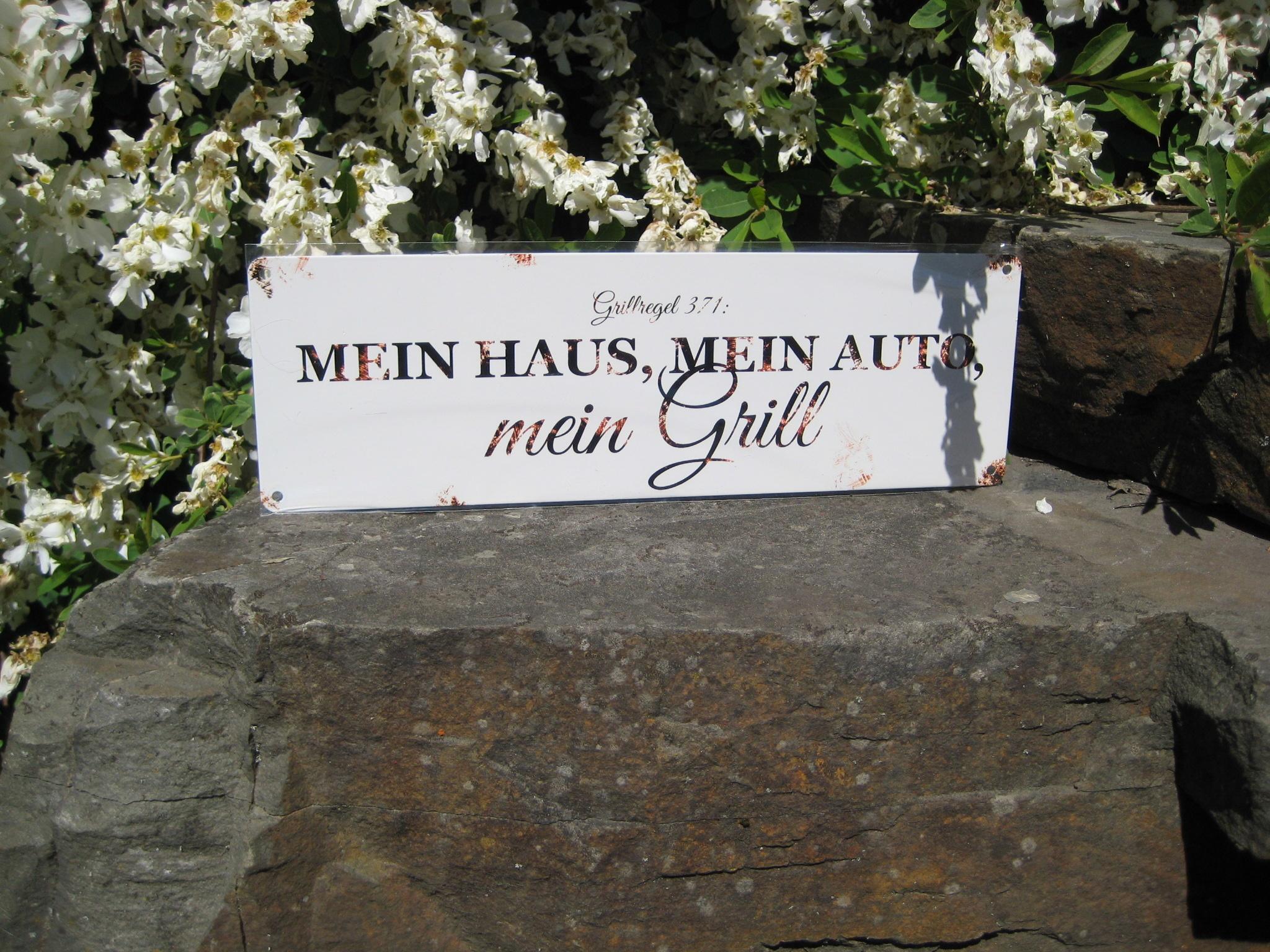 Metallschild: Grillregel 371
