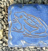 Motiv Pflasterstein Frosch in himmelblau, absolut frostfest