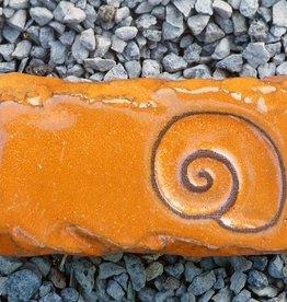 Motiv Pflasterstein Schnecke, lang, orange