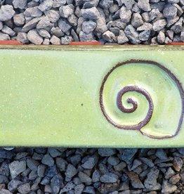 Motiv Pflasterstein Schnecke, lang, lindgrün