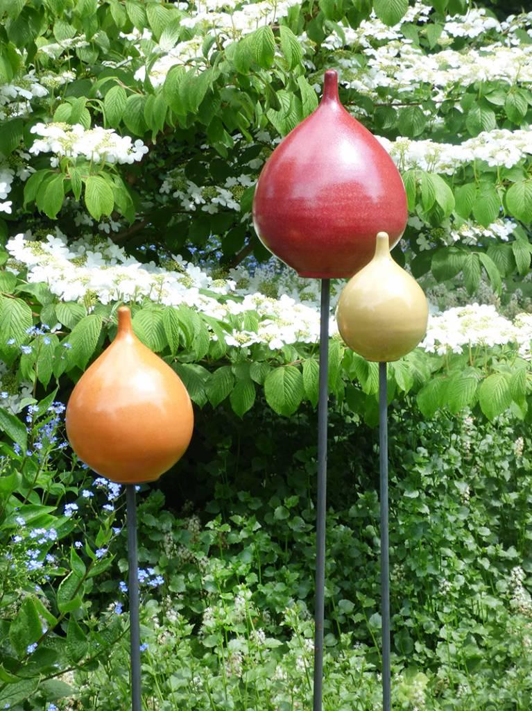 Keramik-Zwiebel orange