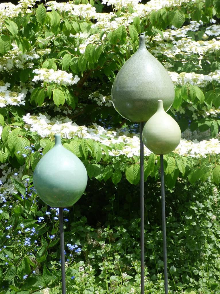 Keramik-Zwiebel lindgrün