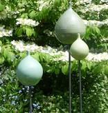 Keramik-Zwiebel laubgrün