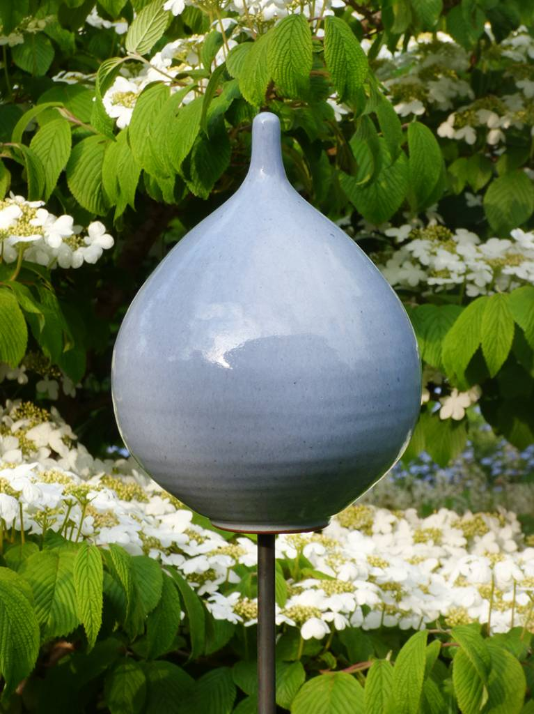Keramik-Zwiebel pastellblau