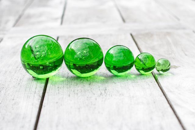 Glaskugeln hellgrün