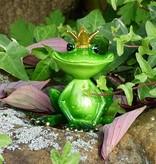 Froschkönig groß , grün, sitzend