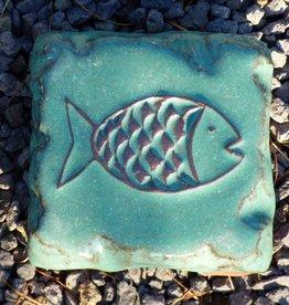 Motiv Pflasterstein Fisch in mint