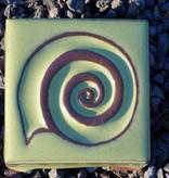 Motiv Pflasterstein Schnecke in lindgrün