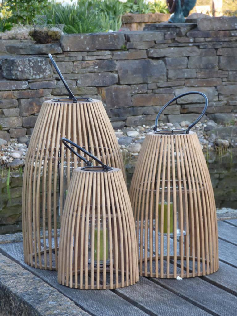 Leuchten aus Bambusholz